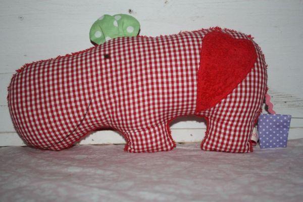 Lilli Löwenherz Willi das Nilpferd in rot