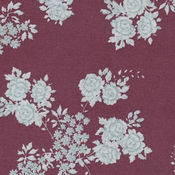 Au Maison beschichtete Baumwolle Oilcloth Isabella Bordeaux