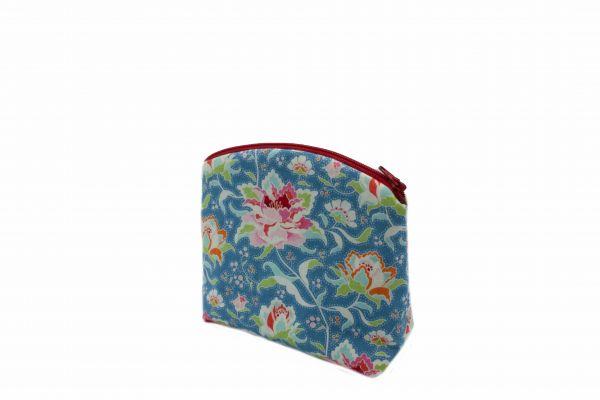 Handgemachte Kosmetiktasche Kulturtasche Circus Rose Blue