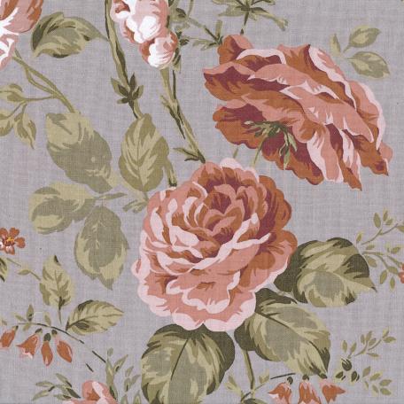 Au Maison beschichtete Baumwolle Oilcloth Sophia Grey