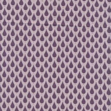 Au Maison beschichtete Baumwolle Oilcloth Teardrops Dusty Violet