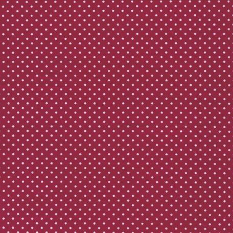 Au Maison beschichtete Baumwolle Oilcloth Dots Cherry