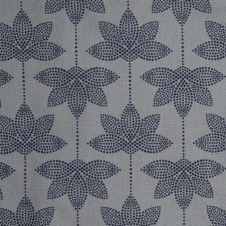 Au Maison beschichtete Baumwolle Oilcloth Lotus Dark Blue