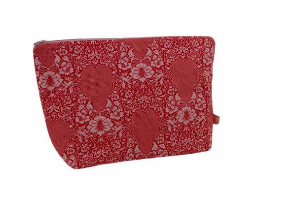 Handgemachte Kulturtasche Wickeltasche Eleanore Coral