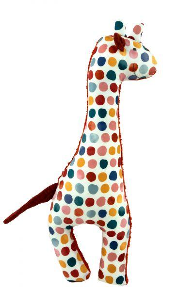 Handgemachte Giraffe Martha in rost