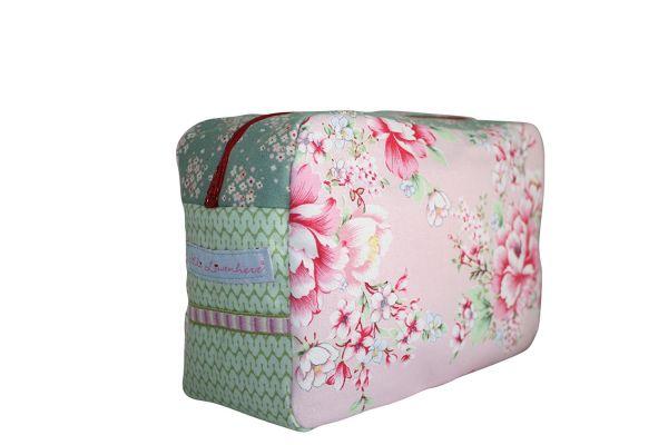 Kulturtasche Badetasche Hibiscus Pink