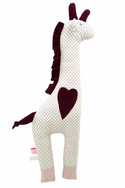 Handgemachte Giraffe Martha Star Pink