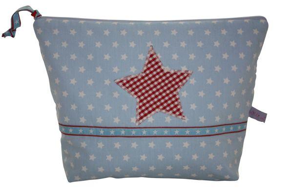 """Kulturtasche Wickeltasche """"Stars Light Blue"""""""
