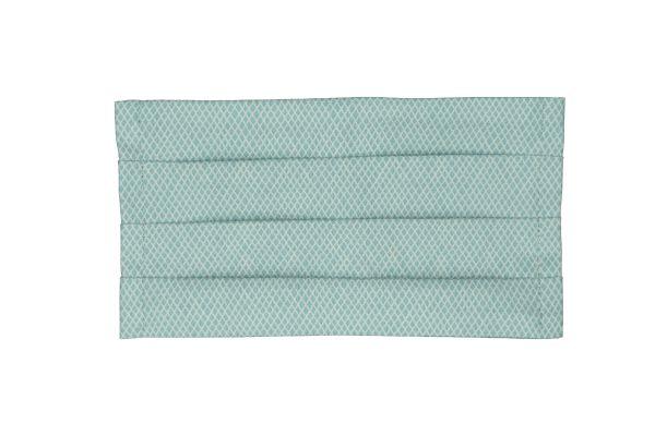 Handgemachte Mundschutz Nasenbedeckung Mundbedeckung aus Baumwollstoff Criss Cross Teal waschbar