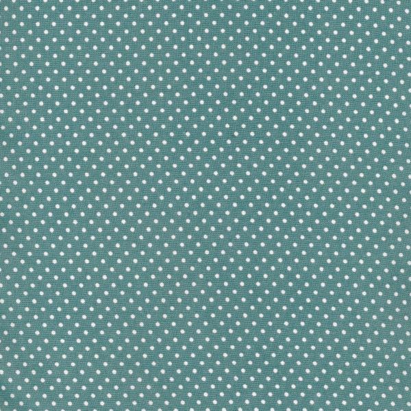 Au Maison beschichtete Baumwolle Oilcloth Dots Antique Green