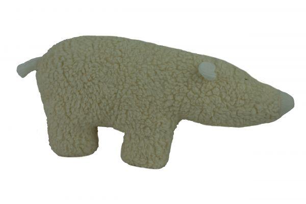 Handgemachter Eisbär Franz aus Öko Baumwollteddy