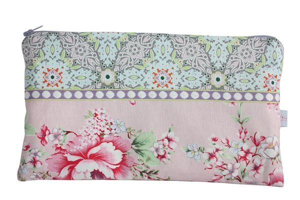 Kosmetiktasche Clutch Hibiscus Pink