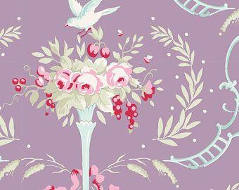 Tilda Stoff Birdsong Lavender aus der Serie Old Rose