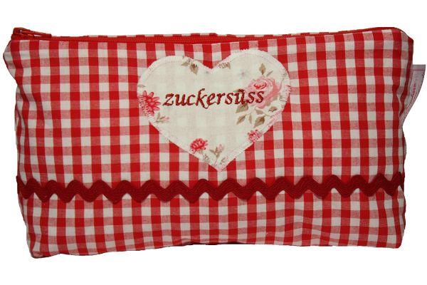 """Lilli Löwenherz Kosmetiktasche """"Zuckersüß"""" in rot"""