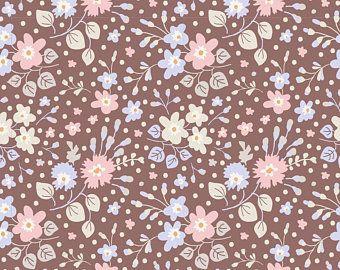 Tilda Stoff Flower Confetti Nutmeg aus der Serie Plum Garden