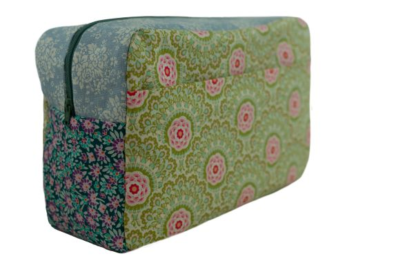 Kulturtasche Badetasche Cabbage Flower Green