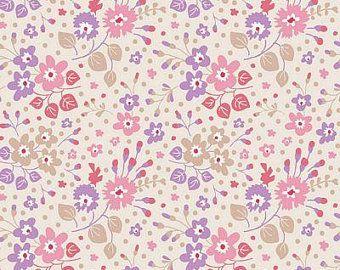 Tilda Stoff Flower Confetti Peach aus der Serie Plum Garden