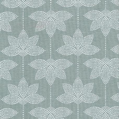 Au Maison beschichtete Baumwolle Oilcloth Lotus Verte