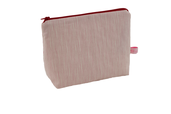 Kulturtasche Red Stripes