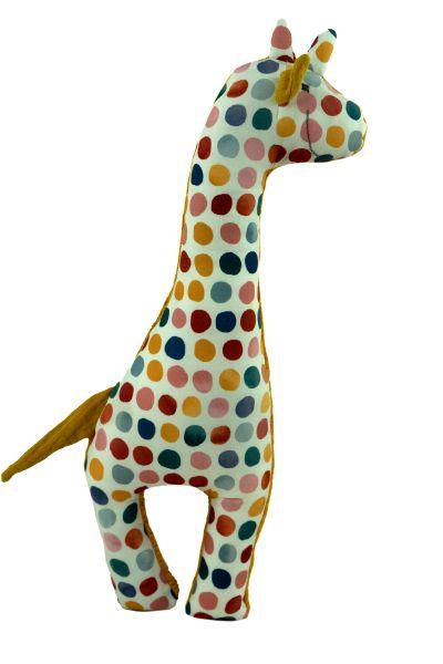 Handgemachte Giraffe Martha in curry