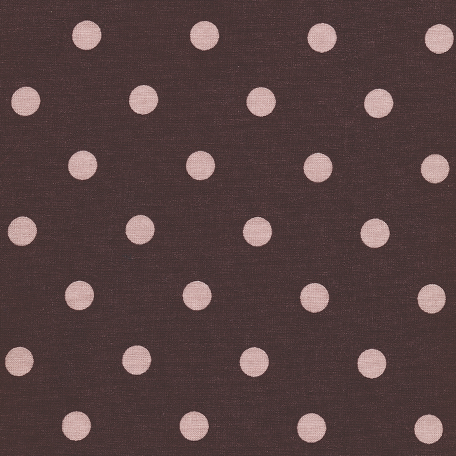 Au Maison beschichtete Baumwolle Oilcloth Big Dots Grape Misty Rose
