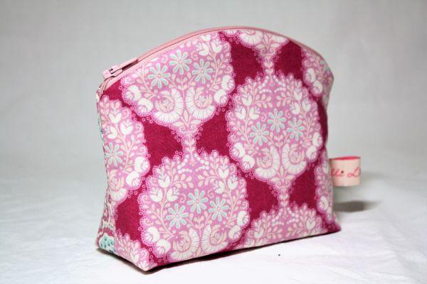 Kulturtasche Kosmetiktasche Flower Tree Pink