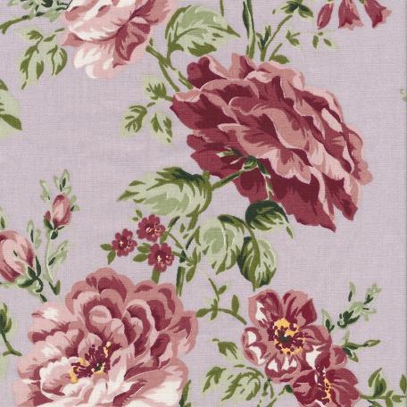 Au Maison beschichtete Baumwolle Oilcloth Sophia Dusty Voilet