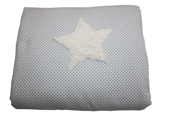 Babydecke Kuscheldecke Stars Blue