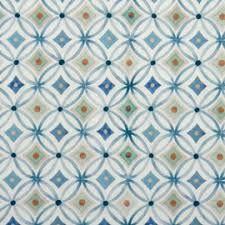 Hilco Stoff Retro Ornaments Blue aus der Serie Emilie