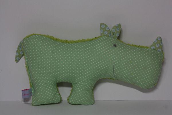 Lilli Löwenherz Konrad das Nashorn in grün